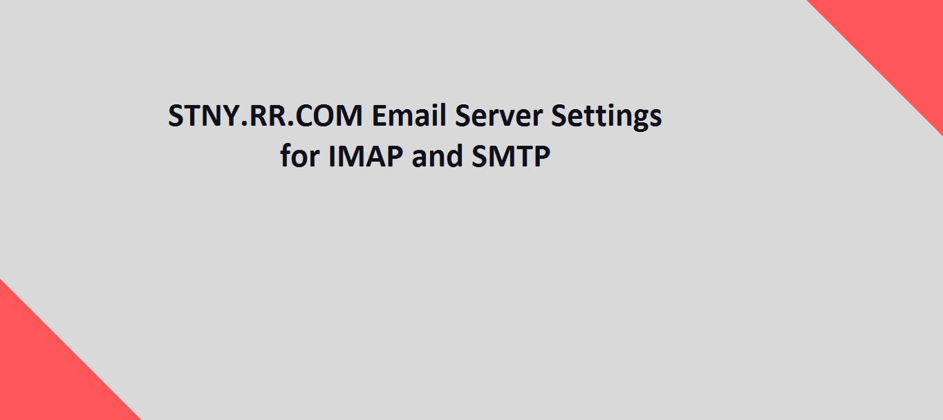 STNY.RR.COM Email Server Settings for IMAP and SMTP